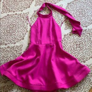 Xtaren fuschia pink halter dress